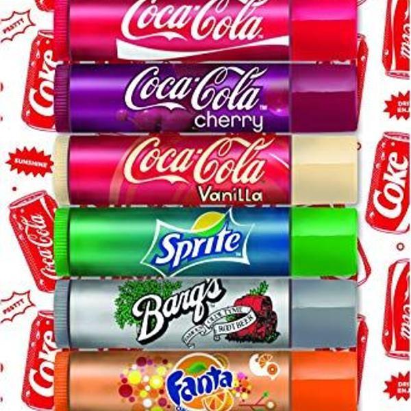 Coca-cola lip balm hidratante protetor labial brilho 8 unid