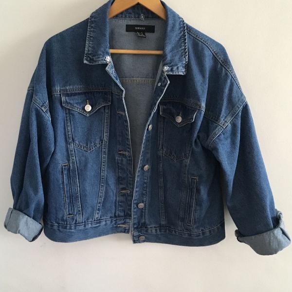 Jaqueta jeans ampla