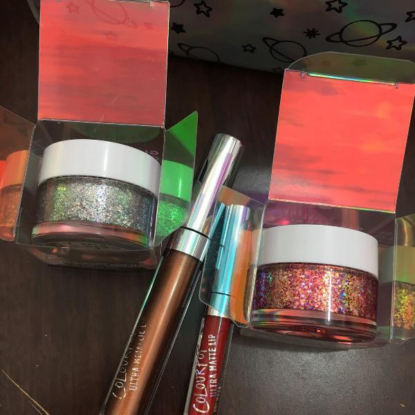 Kit colourpop original batom e glitter