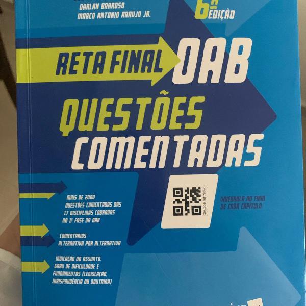Livro reta final oab, 6ª edição - questões comentadas