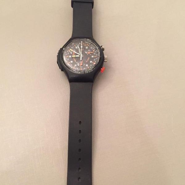 Relógio masculino marcas swatch com pulseira preta de