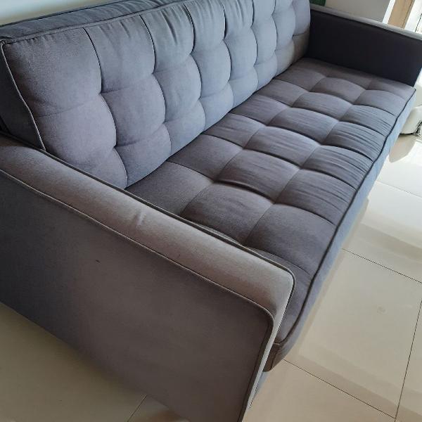Sofa tecido cinza 【 OFERTAS Março 】 | Clasf