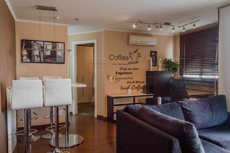 Flat com 1 quarto para alugar, 43 m² por r$ 2.085/mês cod.
