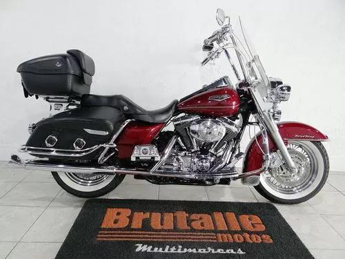 Harley davidson road king classic vermelha