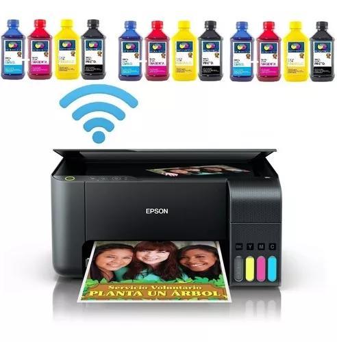 Impressora epson l3150 ecotank + 12un tinta sublimatica