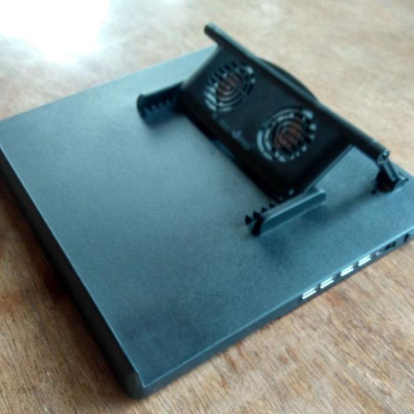 Base suporte notebook - 2 coolers, 4 portas usb -