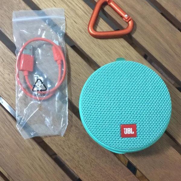 caixa de som portátil bluetooth jbl clip3 verde - novinha
