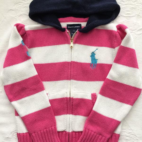 Casaquinho de tricot / fio polo ralph lauren