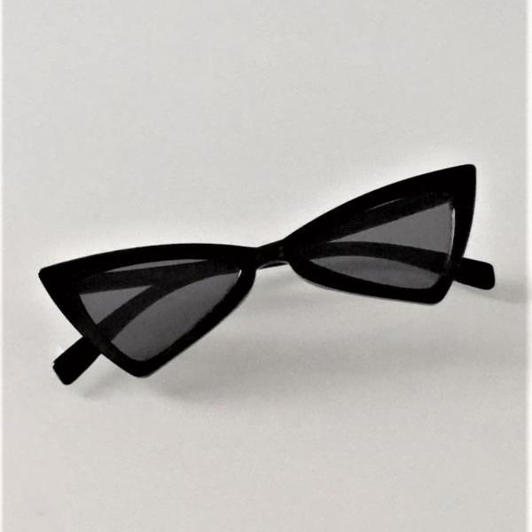 Culos cat eye triangular vintage preto
