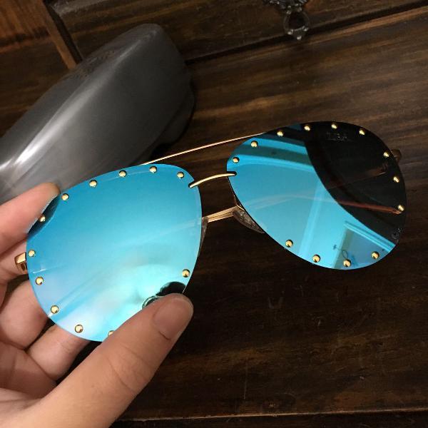 Culos de sol lba espelhado azul