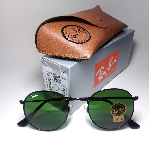 Culos sol ray ban round rb3447 verde fume