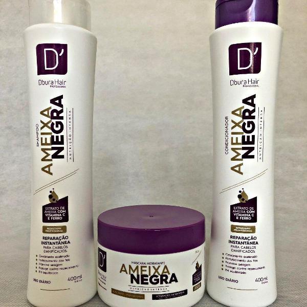 Kit ameixa negra d'oura hair ( 3 itens)