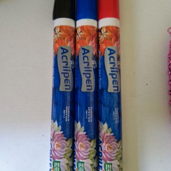 Kit canetas para escrever em tecido
