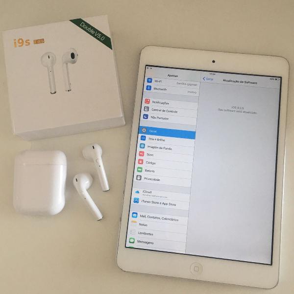 Kit: mini ipad 2 geração (+) fone i9s tws v5.0