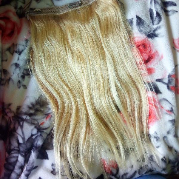 Mega hair aplique com tic tac