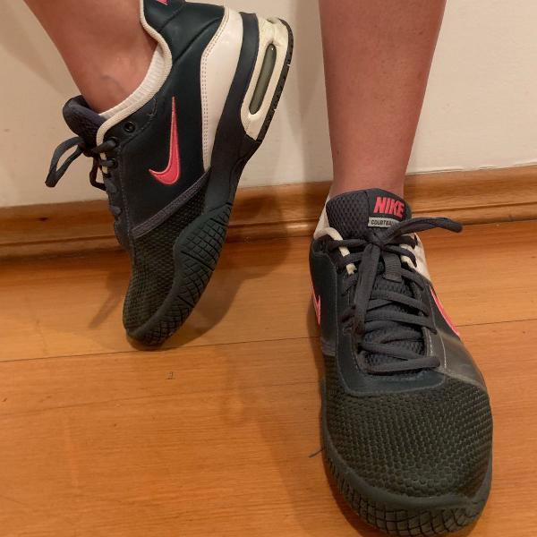 Nike air max azul marinho e rosa nunca usado!