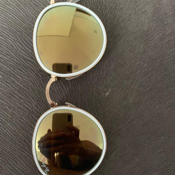 Oculos ray ban round dobravel original