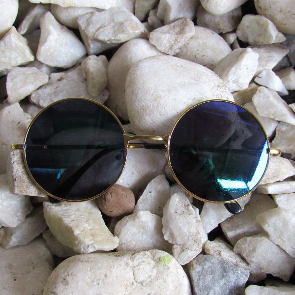 Oculos redondo retro lente espelhada