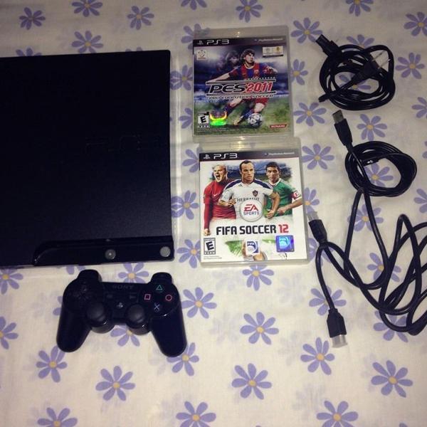 Playstation 3 slim ps3 ótimo estado sony ler tudo r$799