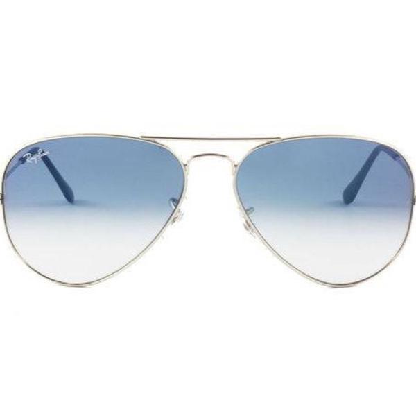Rayban aviador prata e azul degradê original