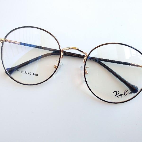 Retrô vintage metal redondo óculos