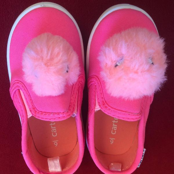 Tênis carters rosa tamanho 6 us