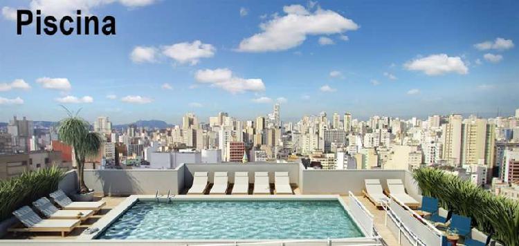 Apartamento com 1 quarto à venda, 34 m² por r$ 335.609