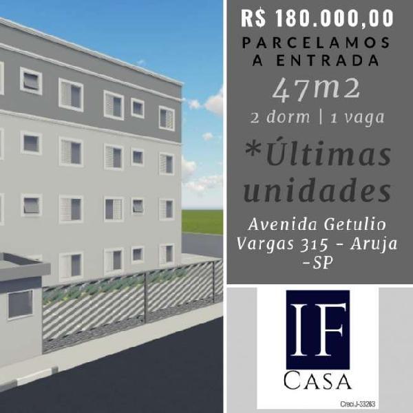 Apartamento com 2 quartos à venda, 47 m² por r$ 180.000