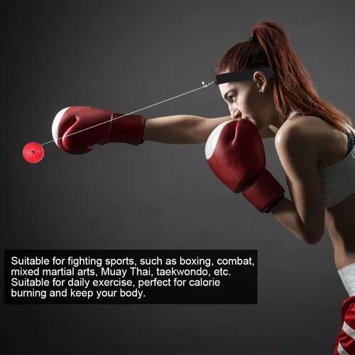 Equipamento de boxe luta soco bola reflexo com banda cabeça