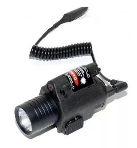 Kit lanterna tatica carregador bateria policia paintball