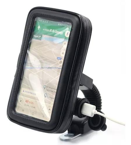 Tomada 12v e 5v usb moto carrega celular gps + suporte k60