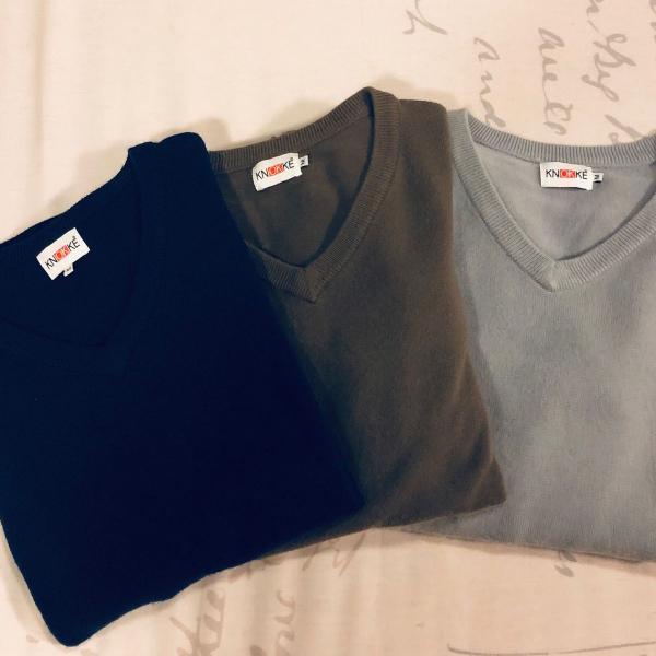 Blusas cachemir 3 cores