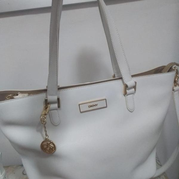 Bolsa couro branco