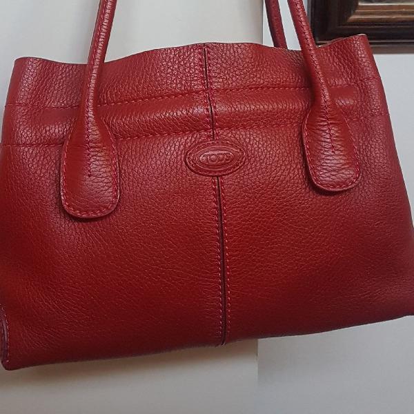 Bolsa de couro vermelha tods