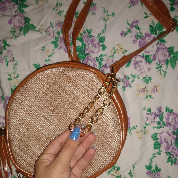 bolsa de lado redonda fashion