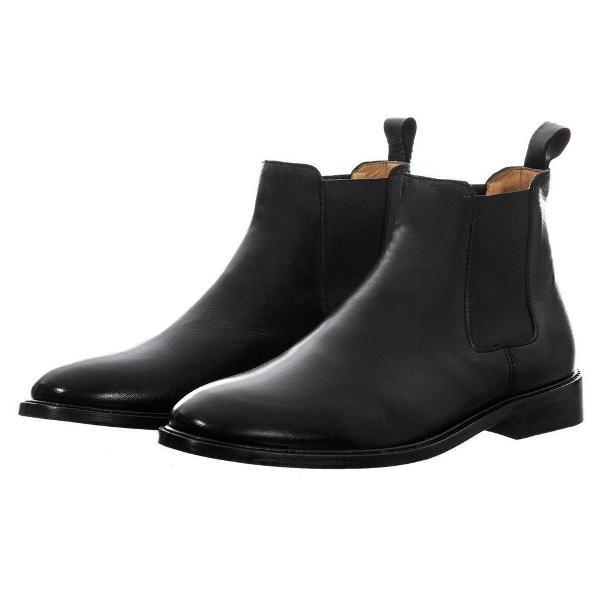 Bota boot chelsea couro preta - saint studio nova