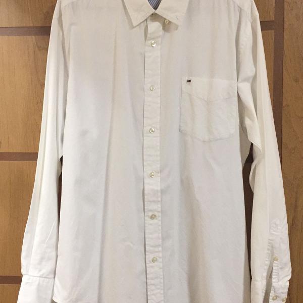 Camisa social da tommy hilfiger branca tamanho gg