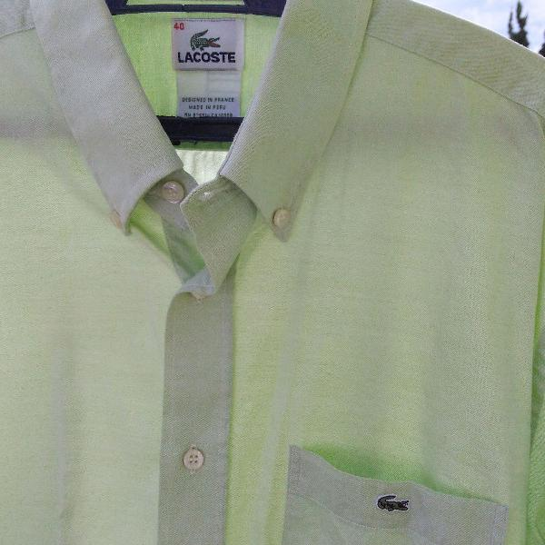 Camisa social lacoste original - verde claro