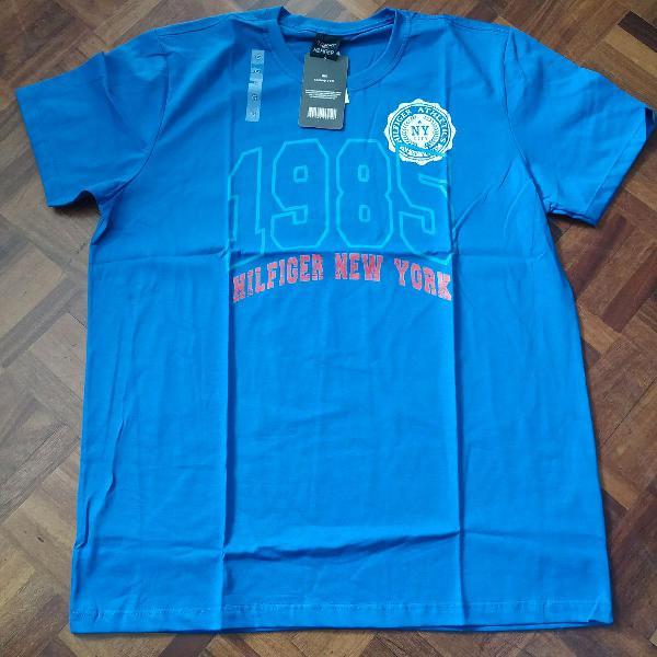 Camiseta tommy hilfiger estampada manga curta