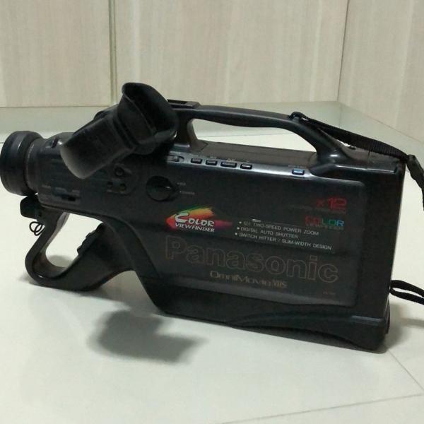 Câmera filmadora panasonic x 12 omnimovie vhs pv-910