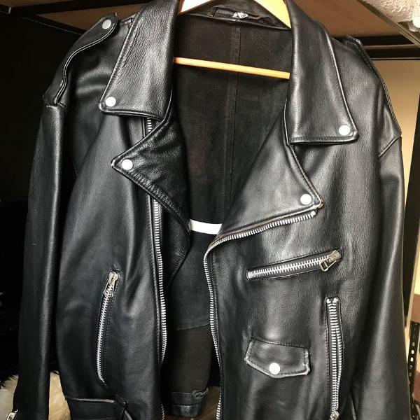 jaqueta de couro motoqueiro