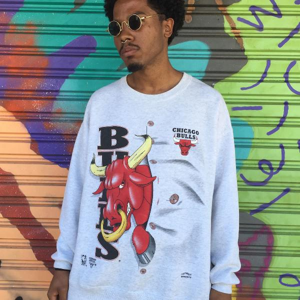Moletom chicago bulls original nba vintage