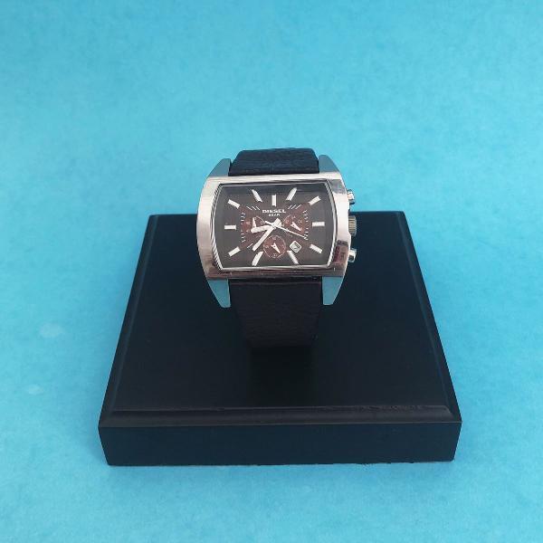 Relógio diesel pulseira couro