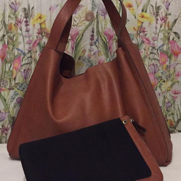 Zara - bolsa grande marrom + case ipad