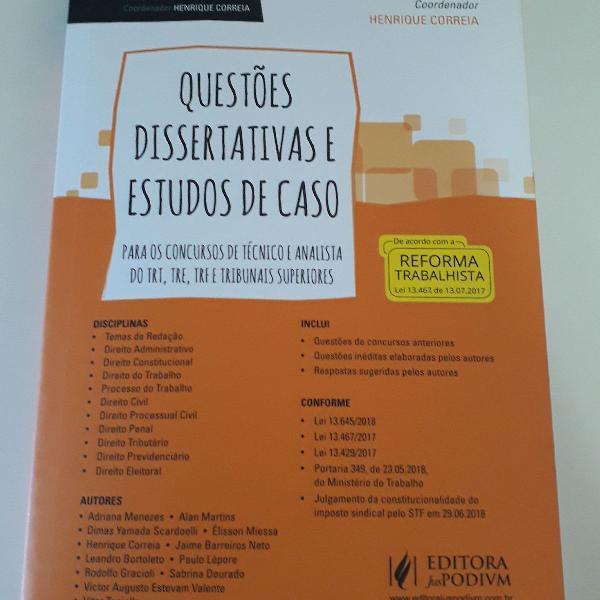 Coleção Tribunais e MPU - Questões dissertativas e
