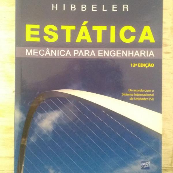 Livro estática - mecânica para engenharia, hibbeler, 12ª