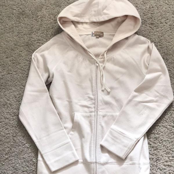 Blusa de frio bege clara feminina