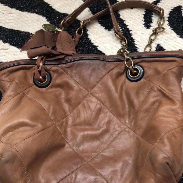 Bolsa lanvan original de couro mole