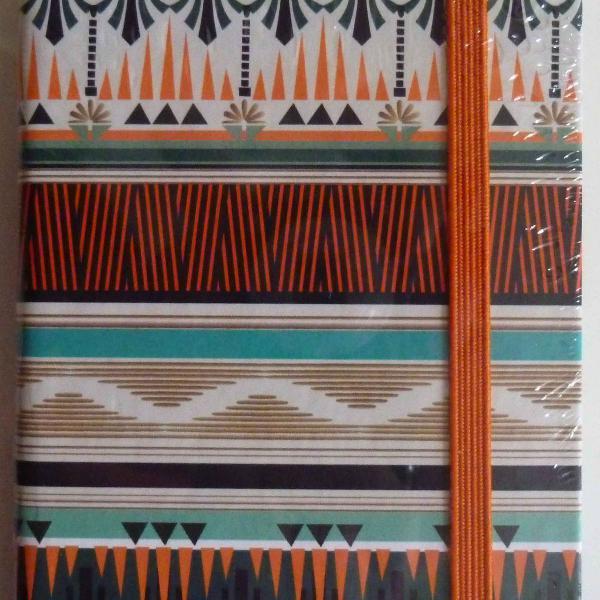 Caderno estampado com elastico coleção cia. marítima para