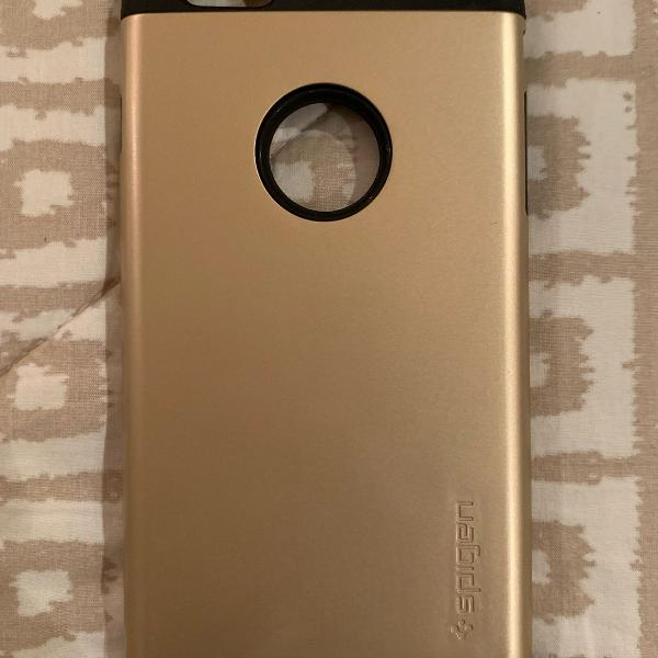 Capa iphone 7/8 plus original spigen case dourada